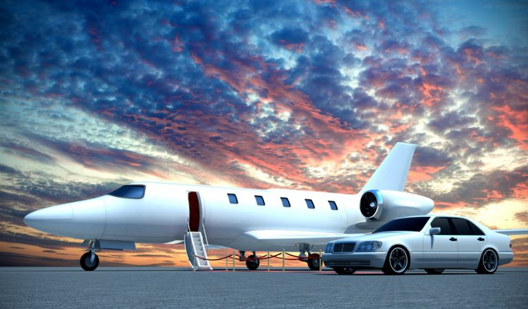 plane and car